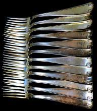 (12) Sterling pat.1913 fork's 487.35g