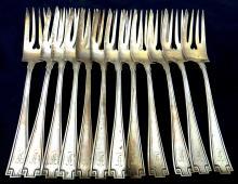 (12) Sterling pat.1913 fork's 396.69g
