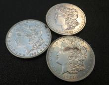 Lot of 3 HIGH GRADE MORGANS EXACT LOT