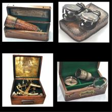 Vintage Nautical Group- Sexant-Telescope MORE