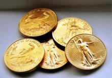 Lot of (5) US GOLD Eagle Bullion Coins