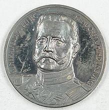 Medal 1. World war, Field Marshal von Beneckendorff v. Hindenburg,