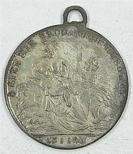 White metal Jeton 1816-17 Prussia, Prussia famine in 1816-17