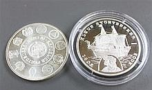 Portugal / Benin 2002/03, two silver coins: Portugal 2003 10 Euro