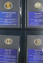 Small collection bimetal - coins of the world.