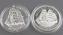 Two silver medals: 1 x Gorch Fock 1958