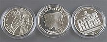 Lot silver coins, consisting of: France 2004, 1 1/2 Euro.