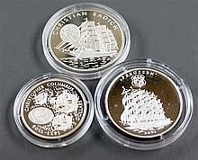 Liberia / Togo 2001/06, Lot 3 silver coins