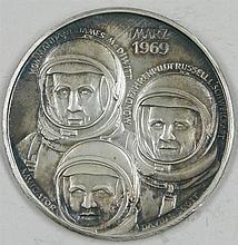 Silver Medal Space Apollo 9,