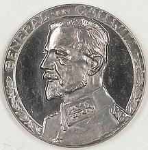 Silver Medal WW1, 800 silver, Max von. Gallwitz,