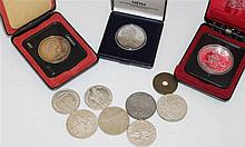 Small coin - and medals compilation consisting of 2 Canada Dollar Silver