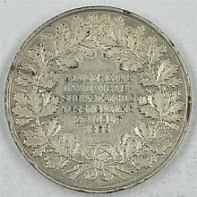 Medal Cologne 1865, the general agricultural exhibition at Cologne in 1865
