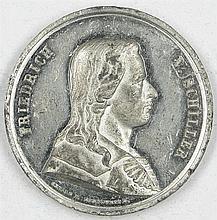 Tin medal 1859, Friedrich Schiller