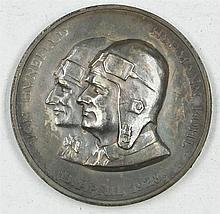Silver Medal of the First Flight Bremen April 13, 1928