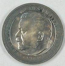 Silver Medal 1925 Friedrich Ebert, Reich President for his death