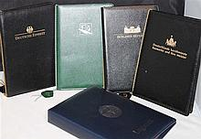 Lot Binders for coin - Certificates. Filled.
