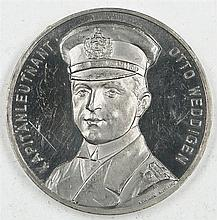 Medal 1 World War 1915 Silver Otto Weddigen submarine commander