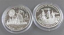 Côte d'Ivoire / Cook Islands 2002/07, two silver coins