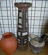 3 ceramic floor vases