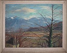below probably Walther Sautter (1911-1991), oil painting on wood,