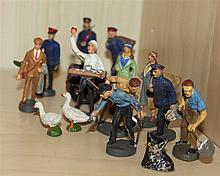 nice lot Elastolin mass railway figures , a total of 11 characters
