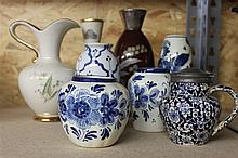 Vases compilation consisting of 8 vases