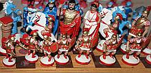 Chess from tin figures , handpainted , complete set