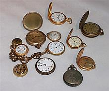 Convolute pocket watches, a total of 12 pieces, different models,