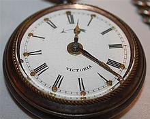 Victoria pocket watch with alarm , Patentnr.17104 D.R.G.M. 97674 with alarm at 800 silver