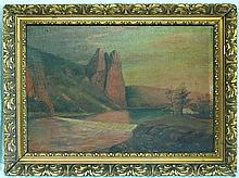 Linkert, old oil painting in a gold frame