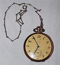 Pocket , Johann Quarser in Asch , function checked , with fine watch chain