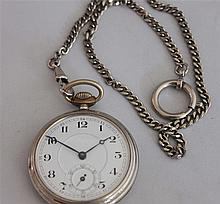 tested 1 old pocket watch made ??of metal , at 1 watch cain