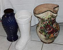 3 parts ceramic / floorvases