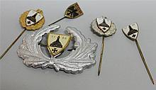 Kyffhäuserbund, thereby enameled pins 3, 40 round silver, 50 years gold, and 1 badge Adler CGB