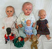 Convolute dolls , different sizes , some marked