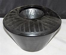 black porcelain vase in the timeless design