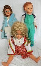 3 large dolls