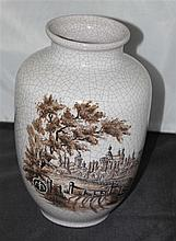 Ceramic vase, Karlsruhe majolica, in the state branded