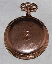 Pocket watch, 585. yellow gold , hallmarked with 585 , JVC and 303