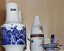 Lot porcelain vases