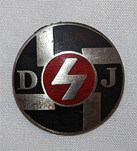 3rd Reich badge DJ. RZM, good condition.