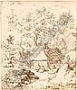 Everdingen, Allart van (1621 Alkmaar - 1675 Amsterdam) Kupferstich/Buetten. ?Die Landschaft mit dem Muehlsteine am Hause?. R u. in der Platte, Allart van Everdingen, Click for value