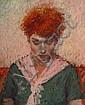 Judy Drew (born 1924) Portrait 1992 pastel