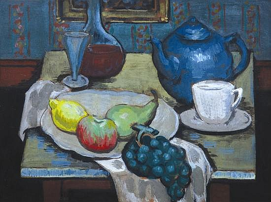 George Bell (1878-1966) Still Life circa 1950 gouache on board