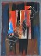 Carlos Merida (Guatemalan, 1891-1984) Geometric Figures lithograph 10/100
