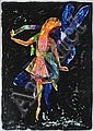 Charles Blackman (born 1928) Dancing Alice colour lithograph 70/80
