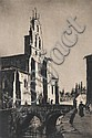 Lionel Lindsay (1874-1961) St. Lesmes, Burgos 1926 drypoint etching ed 60