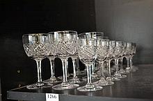 SHELF OF STUART CRYSTAL GLASSES