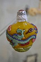 COMPOSITE SNUFF BOTTLE WITH ENAMELLED OVERLAY