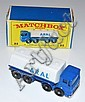 MATCHBOX 1-75 SERIES 32C ARAL TANKWAGON, BLUE CHASSIS, WHITE BACK, SILVER BASE AND GRILLE, 'ARAL' STICKERS TO SIDES AND REAR, BPW, I.